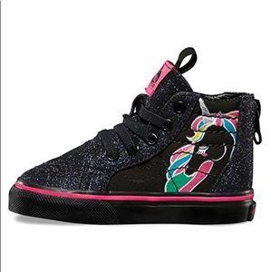 390ca7185a77 Vans Shoes - Vans Sk8Hi Zip Unicorn Rainbow Black Glitter shoes